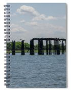 Charleston Export Coal Terminal Wooden Testle Spiral Notebook