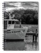 Charleston Star In Monochrome Spiral Notebook