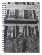 Charleston Style Home Black And White Spiral Notebook