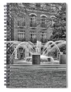 Charleston Waterfront Park Fountain Black And White Spiral Notebook