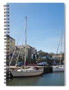 Charlestown Harbour Cornwall Spiral Notebook