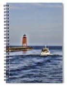 Charlevoix South Pier Light Spiral Notebook
