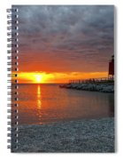 Charlevoix Sunset Spiral Notebook