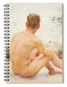Charlie Seated On The Sand Spiral Notebook