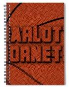 Charlotte Hornets Leather Art Spiral Notebook