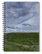 Charlotte Vermont Hay Field Farm Grass Spiral Notebook
