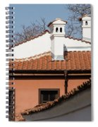 Charming Chimneys - White Stucco And Terracotta Juxtaposition Spiral Notebook