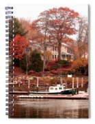 Charming Lady At Rockport Spiral Notebook