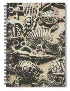 Charming Seashore Symbols Spiral Notebook