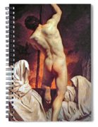 Charon Ferrying The Shades  Spiral Notebook
