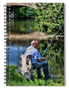 Chartres, France, A Good Day Fishing Spiral Notebook