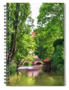 Chartres, France, Park On L'eure River Spiral Notebook