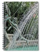 Chase Around The May Pole Spiral Notebook