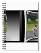 Chasing Bubbles - Gently Cross Your Eyes And Focus On The Middle Image Spiral Notebook