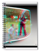 Chasing Bubbles - Use Red-cyan 3d Glasses Spiral Notebook