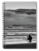 Chasing Tide And Light Spiral Notebook