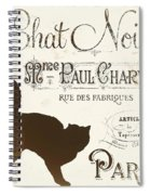 Chat Noir Paris Spiral Notebook