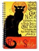 Chat Noir Vintage Spiral Notebook