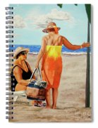 Chat On The Beach - Chat En La Playa Spiral Notebook