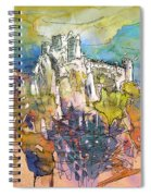 Chateau Cathare De Puylaurens 01 - France Spiral Notebook