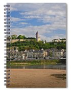 Chateau De Chinon Panorama Spiral Notebook