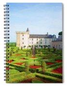 Chateau De Villandry, Loire, France Spiral Notebook
