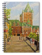 Chateau Frontenac Promenade Quebec City By Prankearts Spiral Notebook