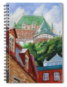 Chateau Frontenac Spiral Notebook