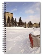 Chateau Lake Louise In Winter In Alberta Canada Spiral Notebook