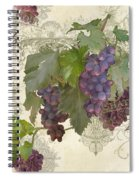 Chateau Pinot Noir Vineyards - Vintage Style Spiral Notebook