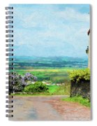 Chateauneuf, Cote-d'or, France, Village Lane Spiral Notebook