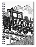 Chattanooga Choo Choo Sign In Black And White Spiral Notebook