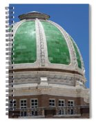 Chaves County Courthouse Green Terracotta Dome Spiral Notebook