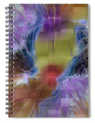 Checker Square Design Spiral Notebook