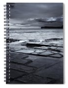 Checkerboard Squares Spiral Notebook