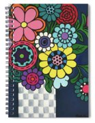 Checkered Bouquet Spiral Notebook