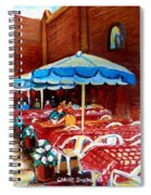 Checkered Tablecloths Spiral Notebook
