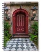 Checkered Tiles Spiral Notebook