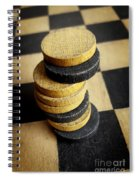Checkers On A Checkerboard Spiral Notebook