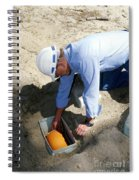 Checking Seismometer Spiral Notebook