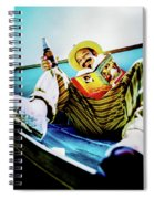 Cheech Marin In Boat Spiral Notebook