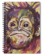 Cheeky Lil' Monkey Spiral Notebook