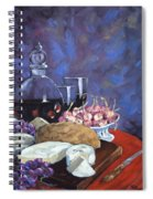 Cheese And Good Wine Spiral Notebook