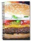 Cheeseburger Deluxe Spiral Notebook