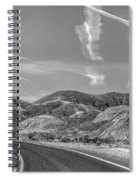 Chem Trails Over Valley Of Fire Black White  Spiral Notebook