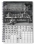 Chemical Lab With Proto-periodic Table Spiral Notebook
