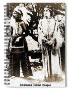Cherokee Indian Couple Spiral Notebook