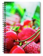 Cherries And Berries Spiral Notebook