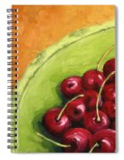 Cherries Green Plate Spiral Notebook