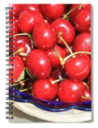 Cherries In A Bowl Close-up Spiral Notebook